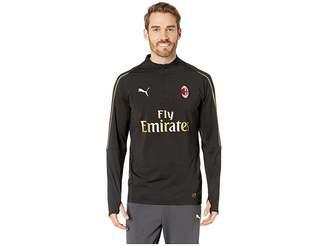 Puma AC Milan1/4 Zip Top with Sponsor Men's Clothing