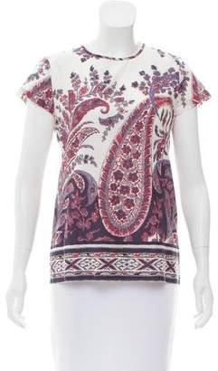 Etoile Isabel Marant Paisley Short Sleeve Top