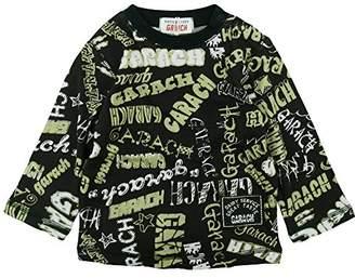 GARACH (ギャラッチ) - GARACH(ギャラッチ) 天竺GARACH英字ロゴ総柄長袖Tシャツ 80cm /ブラック NO.AH-511412