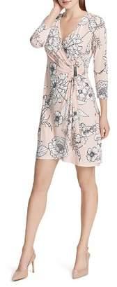 Calvin Klein Floral Faux-Wrap Dress