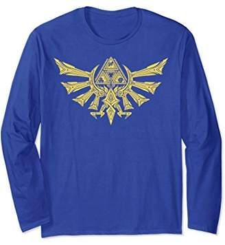 Nintendo Zelda Ornate Hyrulian Emblem Long Sleeve Tee