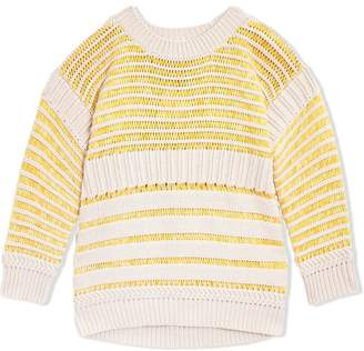 Burberry Rib Knit Cotton Sweater