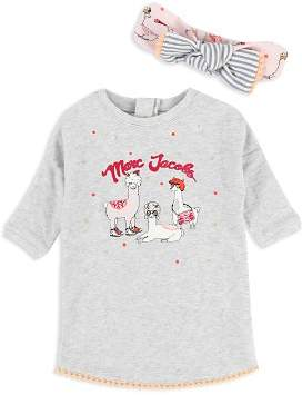 Little Marc Jacobs Girls' Llama Top & Headband Set - Baby