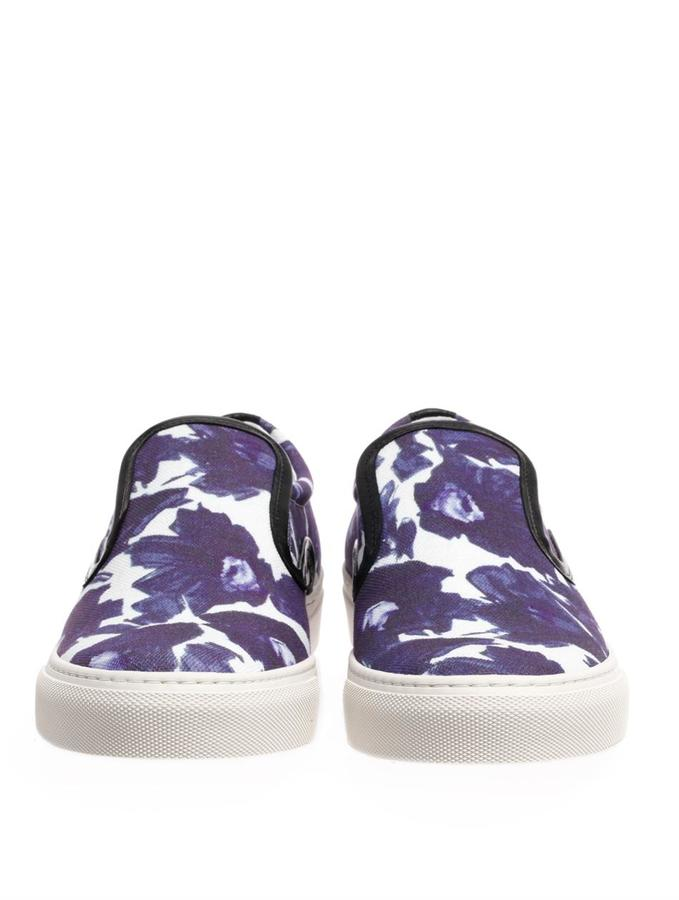 Mother of Pearl Floral slip-on trainers