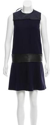 Proenza Schouler Leather-Trimmed Mini Dress