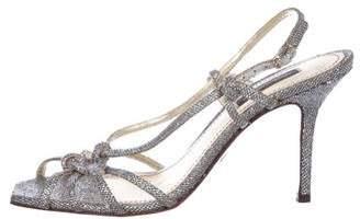Dolce & Gabbana Glitter Slingback Sandals