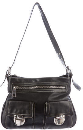 Marc Jacobs Marc Jacobs Leather Sofia Shoulder Bag