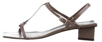 Robert Clergerie T-Strap Leather Sandals