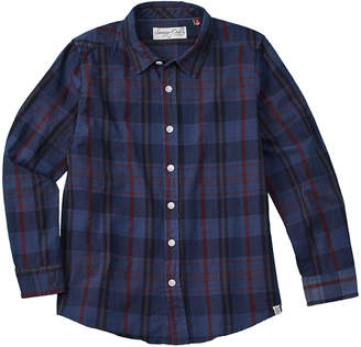 Sovereign Code Boy's Washed Up Blue Woven Shirt