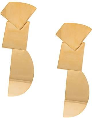 Lizzie Fortunato moon geometric earrings