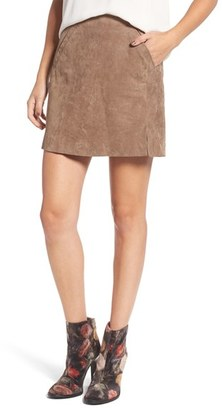Women's Blanknyc Suede Miniskirt $98 thestylecure.com