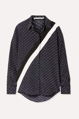 Stella McCartney Printed Silk Crepe De Chine Shirt - Navy