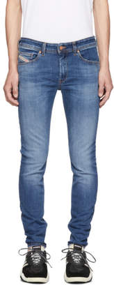 Diesel Blue Sticker Denim Jeans