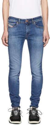 Diesel Blue Sticker Denim Jeans