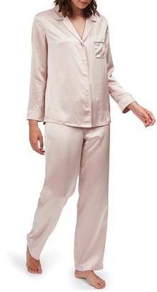 The White Company Piped Silk Pajamas