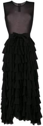 Norma Kamali ruffled dress