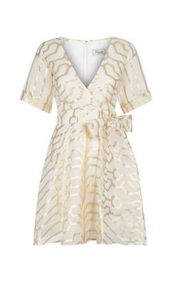 Temperley London Tapis Mini Wrap Dress