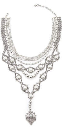 DYLANLEX Gigi Statement Bib Necklace w/ Y-Drop