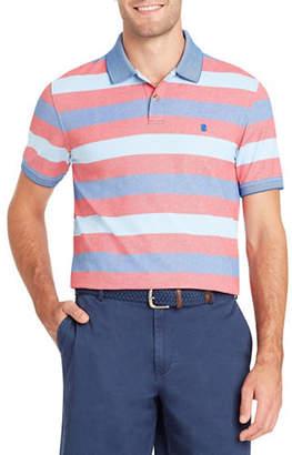 Izod Short-Sleeve Stripe Polo