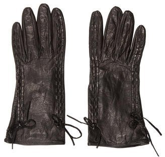 Miu Miu Miu Miu Woven Leather Gloves