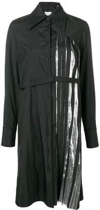 Maison Margiela pleated detail shirt dress
