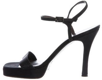 Vera Wang Woven Ankle Strap Sandals
