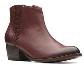 Clarks Artisan Leather Low Ankle Booties
