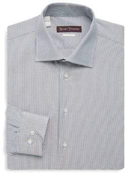 Hickey Freeman Mini Gingham Cotton Dress Shirt