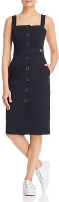 Karen Millen Button-Front Pinafore Dress - 100% Exclusive