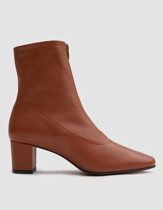 By Far Shoes Neva Leather Ankle Boot in Brown