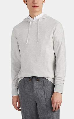 P. Johnson Men's Silk-Cotton Hoodie - Light Gray