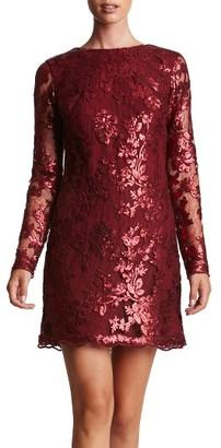 Dress the Population 'Grace' Sequin Lace Long Sleeve Shift Dress $228 thestylecure.com