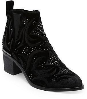 Dolce Vita Preston Velvet Booties $200 thestylecure.com