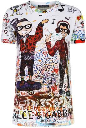 Dolce & Gabbana All-Over Graffiti Print T-Shirt