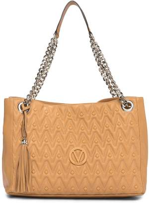 Mario Valentino Valentino By Verra Diamond Leather Tote