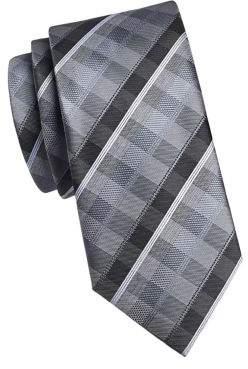 Geoffrey Beene Plaid Print Tie