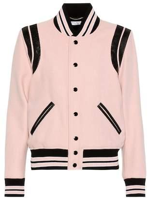 Saint Laurent Classic Teddy wool-blend bomber jacket