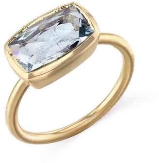 Irene Neuwirth Fine Aquamarine Ring - Yellow Gold