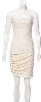 A.L.C. Embroidered Strapless Dress