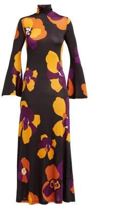 Dodo Bar Or Brigitte Floral Print Maxi Dress - Womens - Black Multi