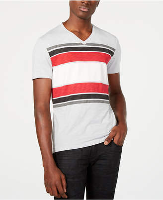 INC International Concepts I.n.c. Men Stripe V-Neck T-Shirt