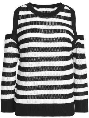 Rag & Bone Cold-Shoulder Striped Cotton Sweater