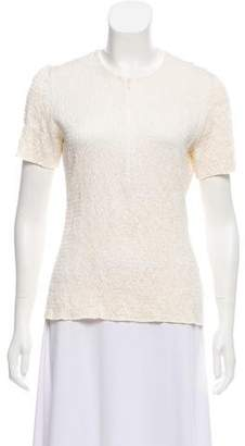 Akris Punto Ruched Short Sleeve Top
