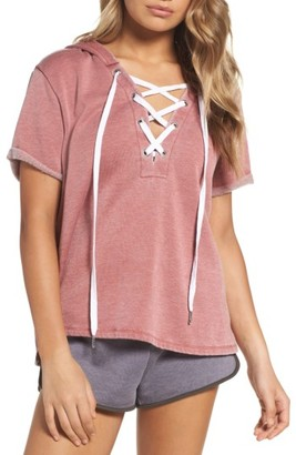 Women's The Laundry Room Short Sleeve Hoodie $118 thestylecure.com