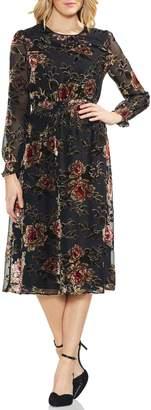 Vince Camuto Velvet Burnout Dress