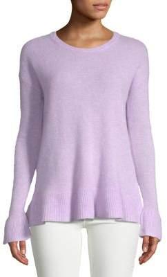 Lord & Taylor Petite Ruffled Hem Cashmere Sweater