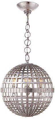 AERIN Mill Small Pendant - Burnished Silver Leaf