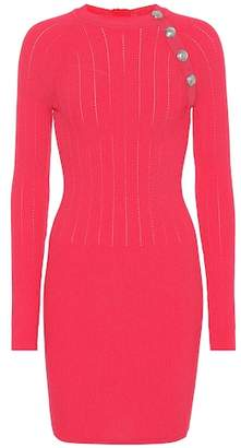 Balmain Stretch knit minidress