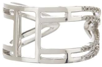 Meira T 14K White Gold Diamond Pave Ring