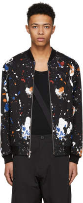 3.1 Phillip Lim Black Painted Bomber Jacket